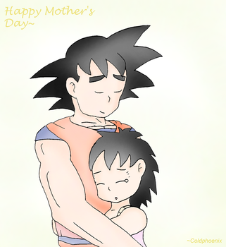 Happy Mother's Day - Gine/Goku 2 by coldphoenix1