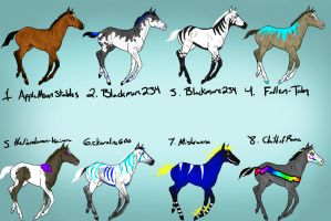 Foals From Breeding Requests 3 by naomithewolf