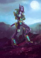 WoW: Narannach the Draenei Huntress by ryumo