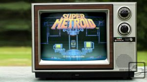 Retro Metroid Wallpaper - 03 by half-brain-monkey