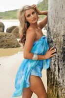 Lisa W - blue sarong at wharf 2 by wildplaces