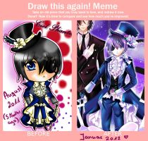 Meme CielPhantomhive August 2011 and January 2012 by Maruuki