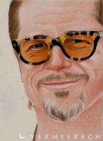 Brad Pitt colour drawing by Martin--Art