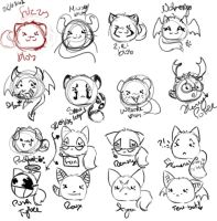A chart of Fuzzy Blobs by zirio