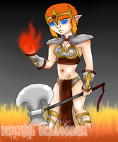 Gynx - Goddess of War and Fire by LilWicky