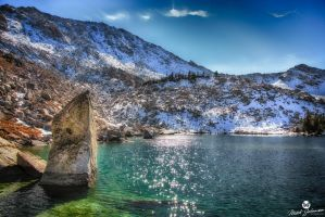 Sun Dial Rock HDR by mjohanson