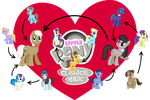 The love relations of Octavia and the other ponies by greendwarf333