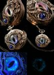 Succubus Color Shifting Eye Pocket Watch Necklace by LadyPirotessa