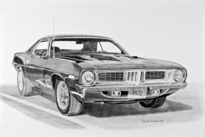 1972 Barracuda Graphite by Daniel-Storm