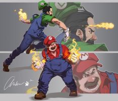 Super Mario Brothers by am-bearre