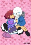 Frisk X Sans Coffee Commission by DarkDragonTanis