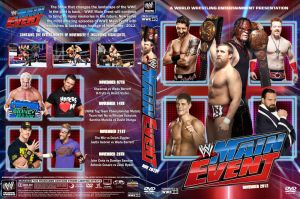 WWE Main Event November 2012 DVD Cover by Chirantha