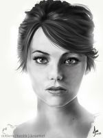 Emma Stone - Paint Practice by riotfaerie