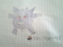 A quick Gengar sketch. by PokemonLoveLiveFan99