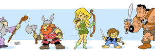 RPG character classes by BezerroBizarro