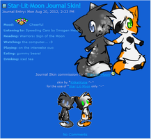 Star-Lit-Moon Journal Skin by Kitzophrenic