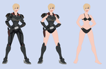 Calhoun-  Wreck-It Ralph RP Fantasy outfits by Dinalfos5