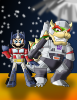 Mario Prime and Bowsertron by sonicgirl313