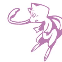 Mew and Stars Outline by Karuley