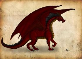Tholaxxius, The Great Red by Netarliargus