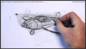 Learn How To Draw A Cartoon Airplane 034 by drawingcourse