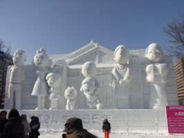 the BIG snow sculpture 3 by Akira-H