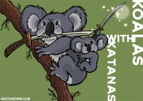 Koalas with Katanas by GagaMan