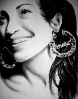 Jennifer Lopez Charcoal by desiangel1