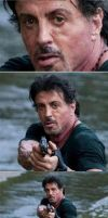 Stallone in taxi by Evil-Enix
