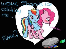 Pinkie pie x Rainbowdash by kristelpokemonfan