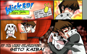 Kaiba and the bunny by thiro