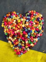 Paper Star Heart by Drixi