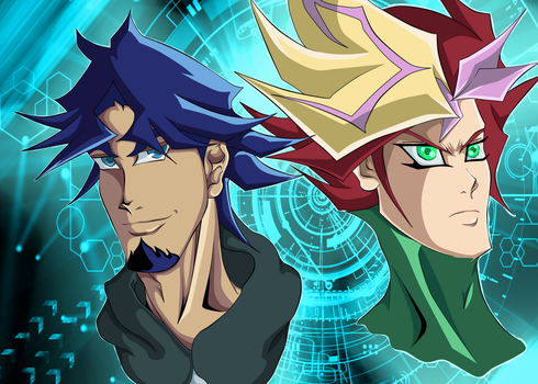 Kusanagi and Yusaku [Playmaker ] by EDSantosART