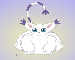 Gatomon Posing by Gnight