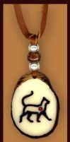 Tomcat Totem Tagua Pendant by Foxfeather248