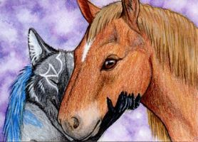 Kiche and Her Beau by Yote