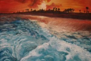 Sunset oil painting by christinaks