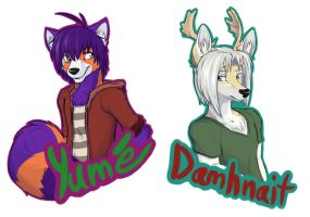 New Fursona badges by PurplePandog