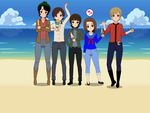 The Monkees and Me--Anime Style! by paulwellerfan79