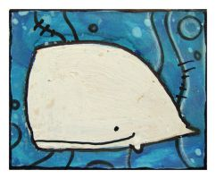 Little Paintings - Sperm Whale by Duffzilla