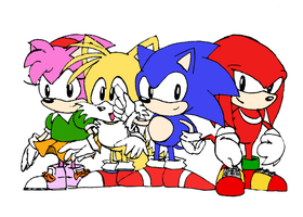 Original Four - Sonic Classic Characters by Reallyfaster