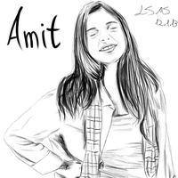 Portrait - Amit 2 by LilachSigal