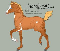 Nordanner foal 2049 for SpiritStables by Ikiuni