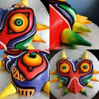 Majora's Mask Cake by cakecrumbs