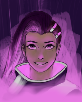 terribly rushed sombra fanart by Dragonuv10