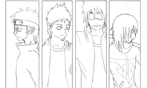 Team Lineart by Kage0kami