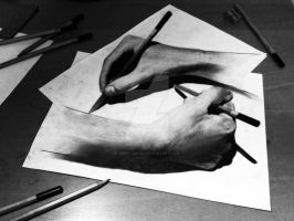 Escher teaches - Anamorphic Art by DeVitoMirco