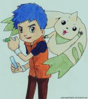Henry and Terriermon by captaingrimmjow