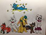 Le squad... but with ocs and fursonas. by lunahfox