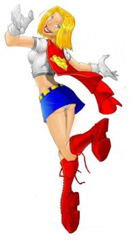 supergirl quick colored by spyda-man